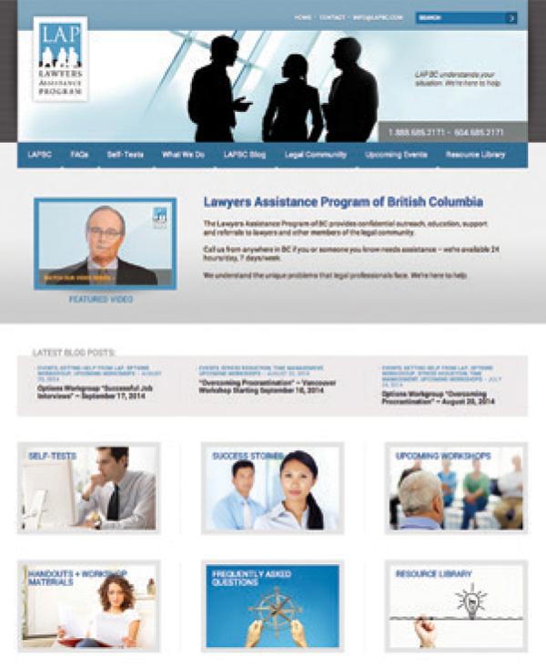 Screenshot of LAP website