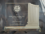 Harry Rankin, QC Pro Bono Award